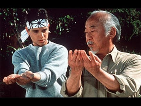 Mr. Miyagi trains Daniel Russo for the tournament